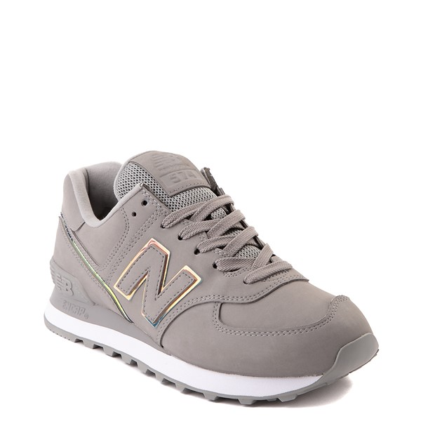 alternate view Womens New Balance 574 Athletic Shoe - Gray / IridescentALT5