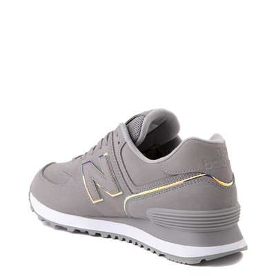 Alternate view of Womens New Balance 574 Athletic Shoe - Gray / Iridescent