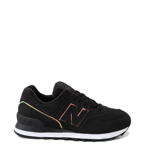Main view of Womens New Balance 574 Athletic Shoe - Black / Iridescent