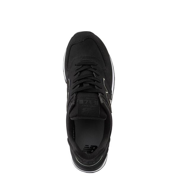 alternate view Womens New Balance 574 Athletic Shoe - Black / IridescentALT4B