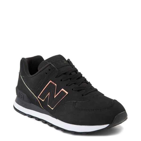 alternate view Womens New Balance 574 Athletic Shoe - Black / IridescentALT5