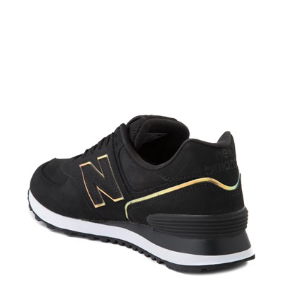 Alternate view of Womens New Balance 574 Athletic Shoe - Black / Iridescent