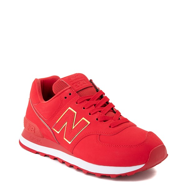 alternate view Womens New Balance 574 Athletic Shoe - Red / IridescentALT5