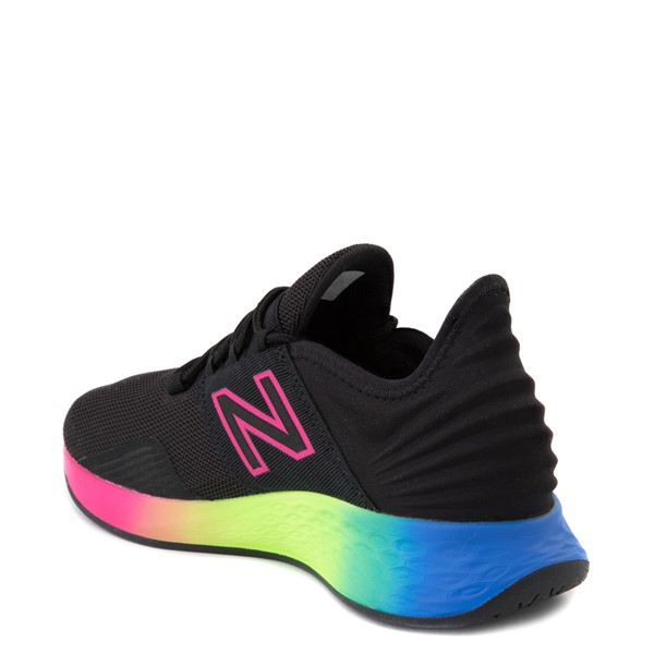 alternate view Womens New Balance Fresh Foam Roav Athletic Shoe - Black / RainbowALT1
