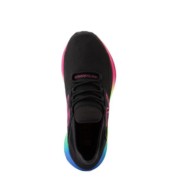 alternate view Womens New Balance Fresh Foam Roav Athletic Shoe - Black / RainbowALT4B