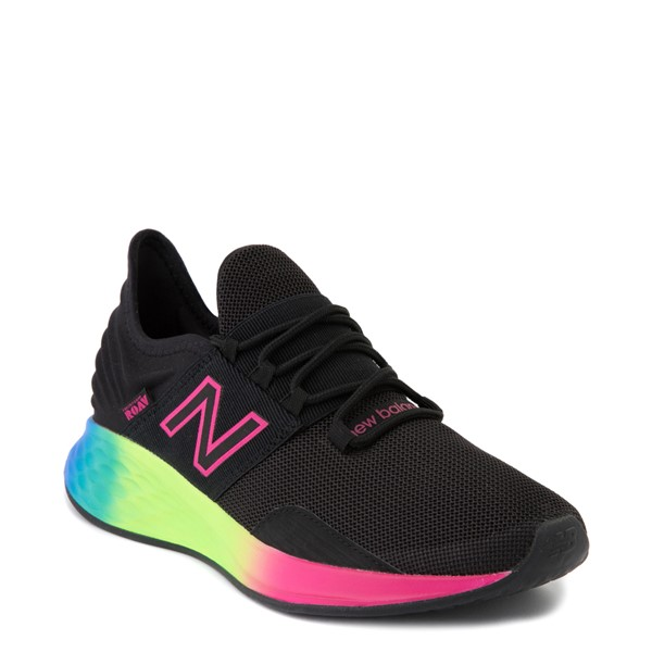 alternate view Womens New Balance Fresh Foam Roav Athletic Shoe - Black / RainbowALT5