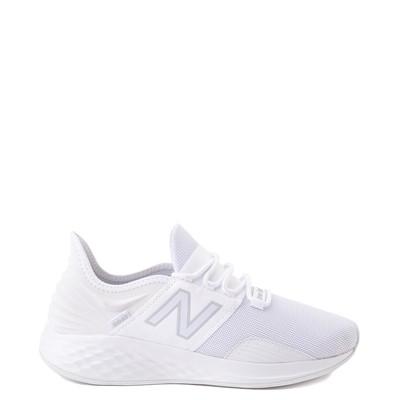 Main view of Womens New Balance Fresh Foam Roav Athletic Shoe - White / Gray
