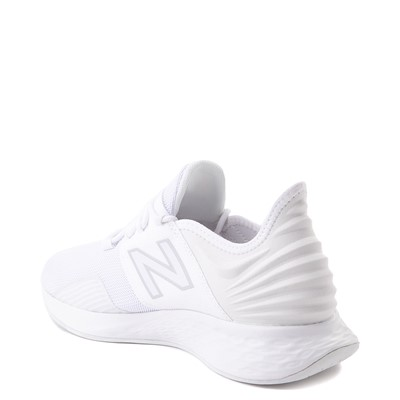 Alternate view of Womens New Balance Fresh Foam Roav Athletic Shoe - White / Gray