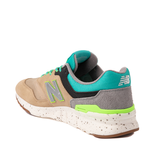 alternate view Mens New Balance 997H Athletic Shoe - Tan / Turquoise / LimeALT1