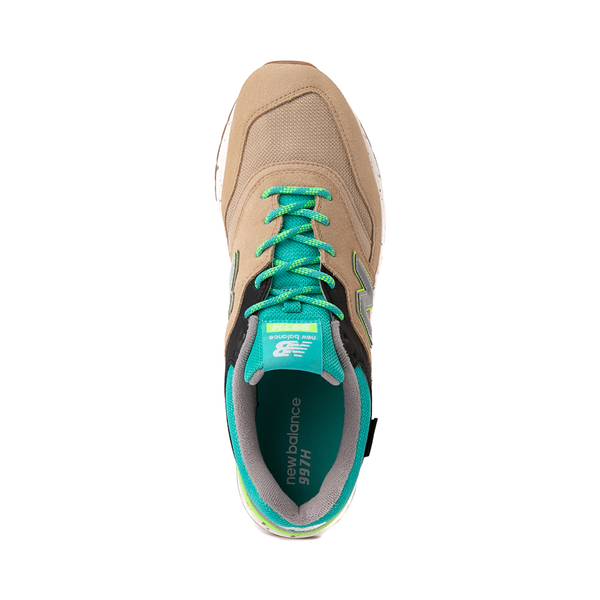alternate view Mens New Balance 997H Athletic Shoe - Tan / Turquoise / LimeALT2