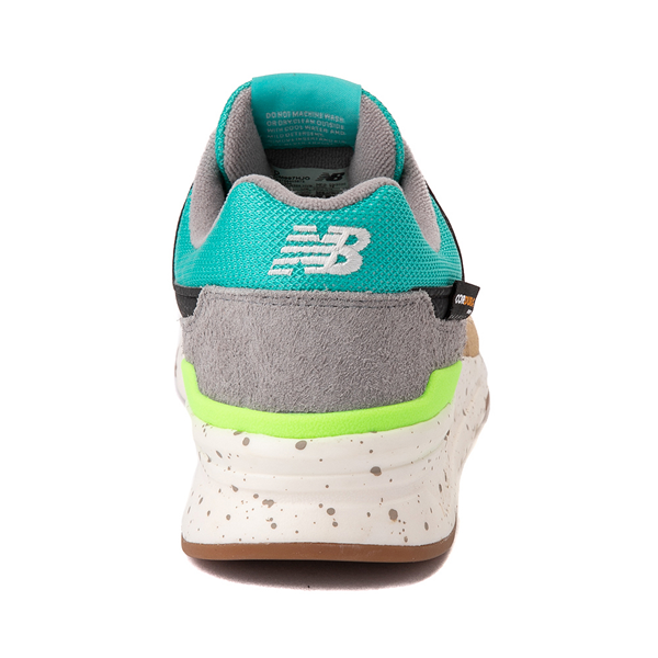 alternate view Mens New Balance 997H Athletic Shoe - Tan / Turquoise / LimeALT4