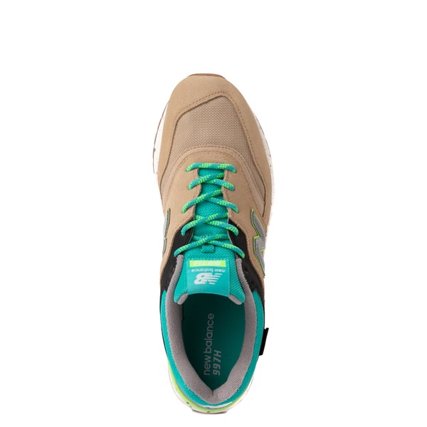 alternate view Mens New Balance 997H Athletic Shoe - Tan / Turquoise / LimeALT4B