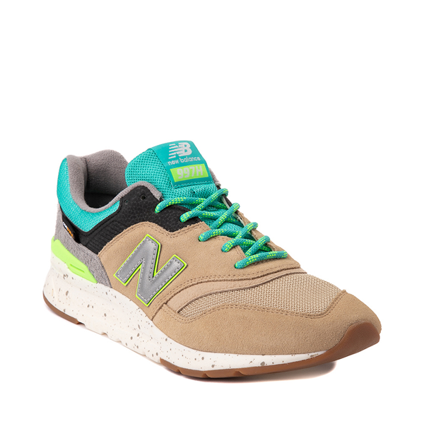 alternate view Mens New Balance 997H Athletic Shoe - Tan / Turquoise / LimeALT5