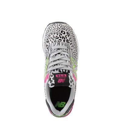 chupar sutil Hormiga  Womens New Balance 574 Animal Print Athletic Shoe - Black / Neon Mint /  Pink | Journeys