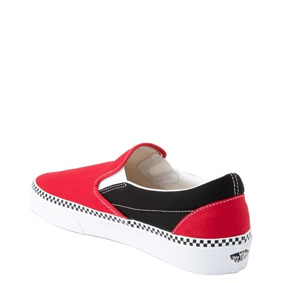 Alternate view of Vans Slip On Checkerboard Skate Shoe - Red / Black
