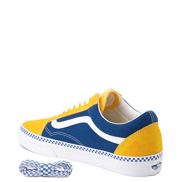 alternate view Vans Old Skool Checkerboard Skate Shoe - Spectra Yellow / True BlueALT1