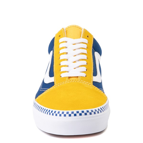 alternate view Vans Old Skool Checkerboard Skate Shoe - Spectra Yellow / True BlueALT4