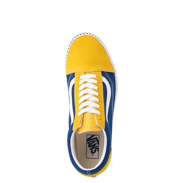 alternate view Vans Old Skool Checkerboard Skate Shoe - Spectra Yellow / True BlueALT4B