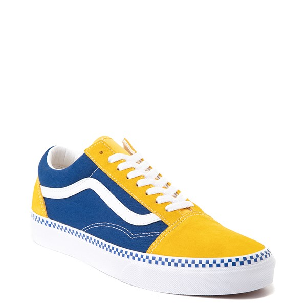 alternate view Vans Old Skool Checkerboard Skate Shoe - Spectra Yellow / True BlueALT5
