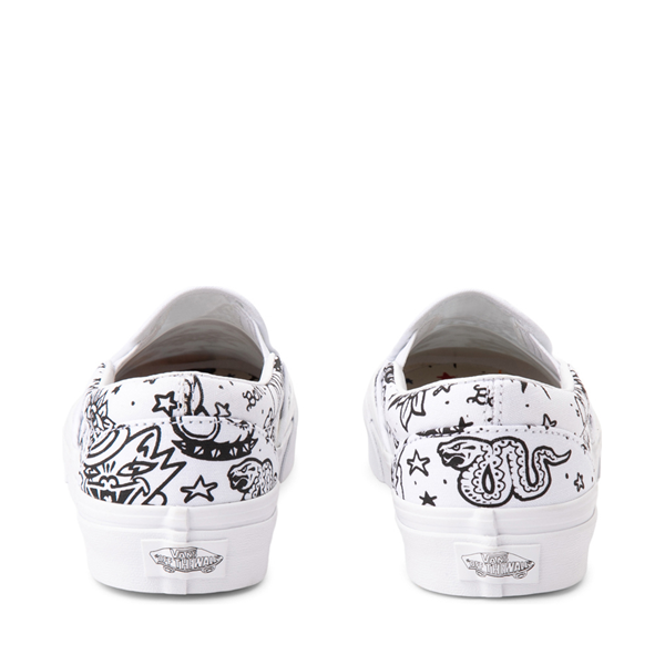 alternate view Vans Slip On U-Color Tattoo Skate Shoe - WhiteALT4