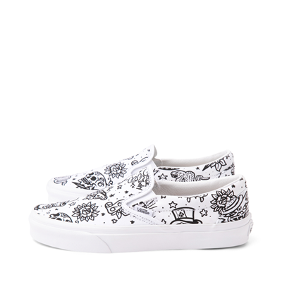Alternate view of Vans Slip On U-Color Tattoo Skate Shoe - White