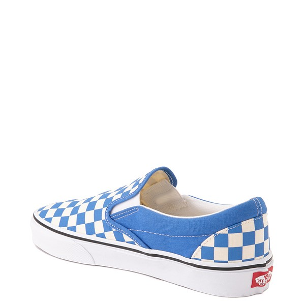 alternate view Vans Slip On Checkerboard Skate Shoe - Nebulas BlueALT1