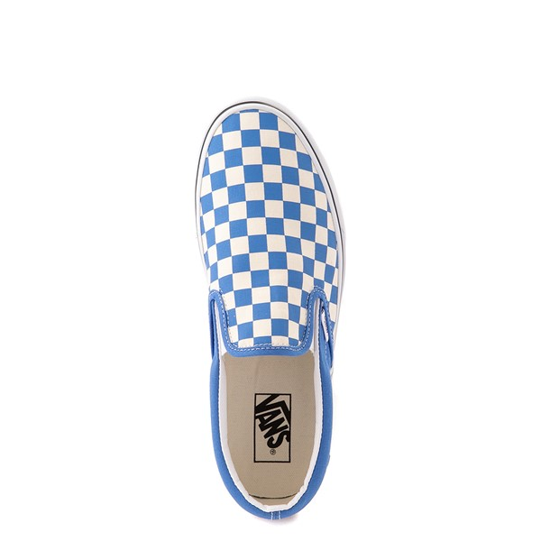 alternate view Vans Slip On Checkerboard Skate Shoe - Nebulas BlueALT2
