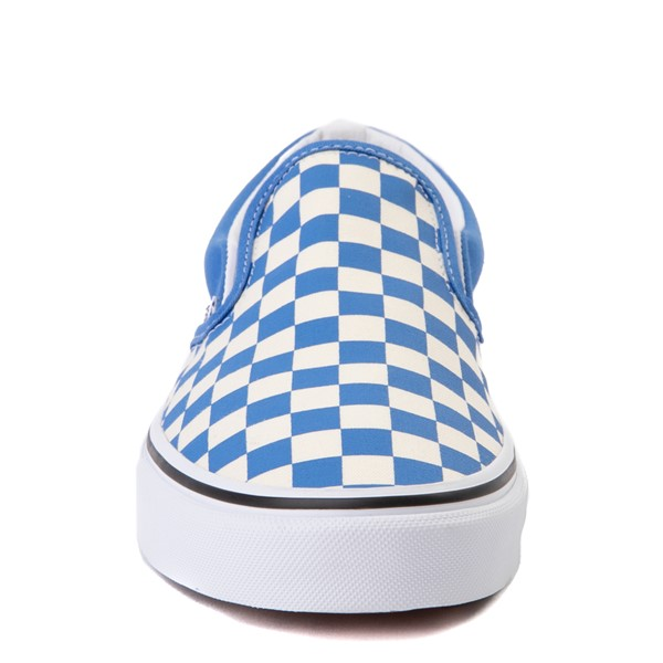 alternate view Vans Slip On Checkerboard Skate Shoe - Nebulas BlueALT4