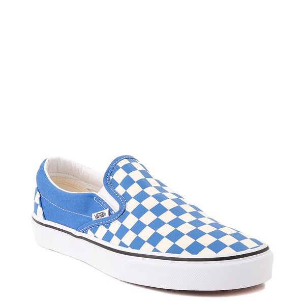 alternate view Vans Slip On Checkerboard Skate Shoe - Nebulas BlueALT5