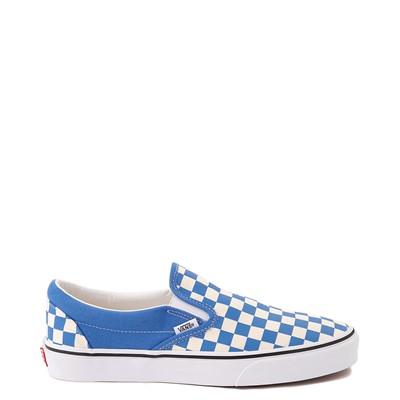 Main view of Vans Slip On Checkerboard Skate Shoe - Nebulas Blue