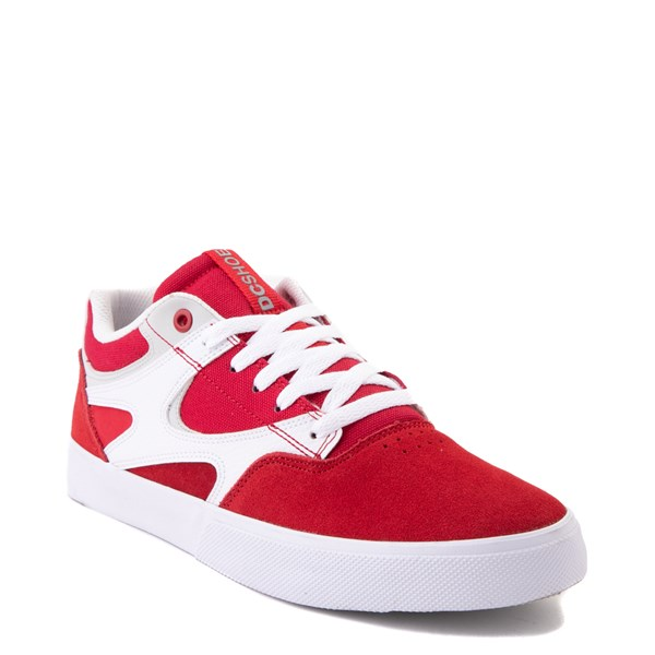 alternate view Mens DC Kalis Vulc Skate Shoe - Red / WhiteALT1
