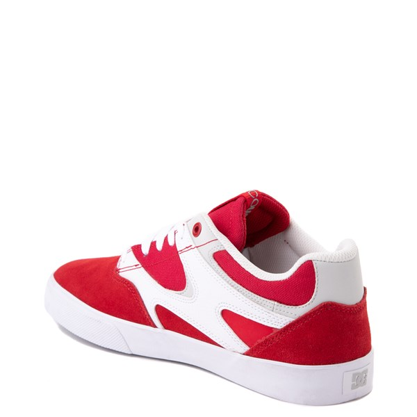 alternate view Mens DC Kalis Vulc Skate Shoe - Red / WhiteALT2