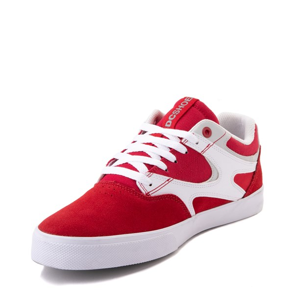 alternate view Mens DC Kalis Vulc Skate Shoe - Red / WhiteALT3