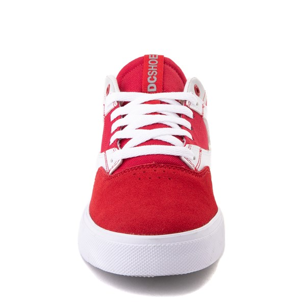 alternate view Mens DC Kalis Vulc Skate Shoe - Red / WhiteALT4