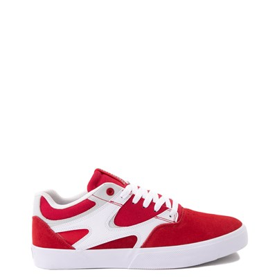 Main view of Mens DC Kalis Vulc Skate Shoe - Red / White