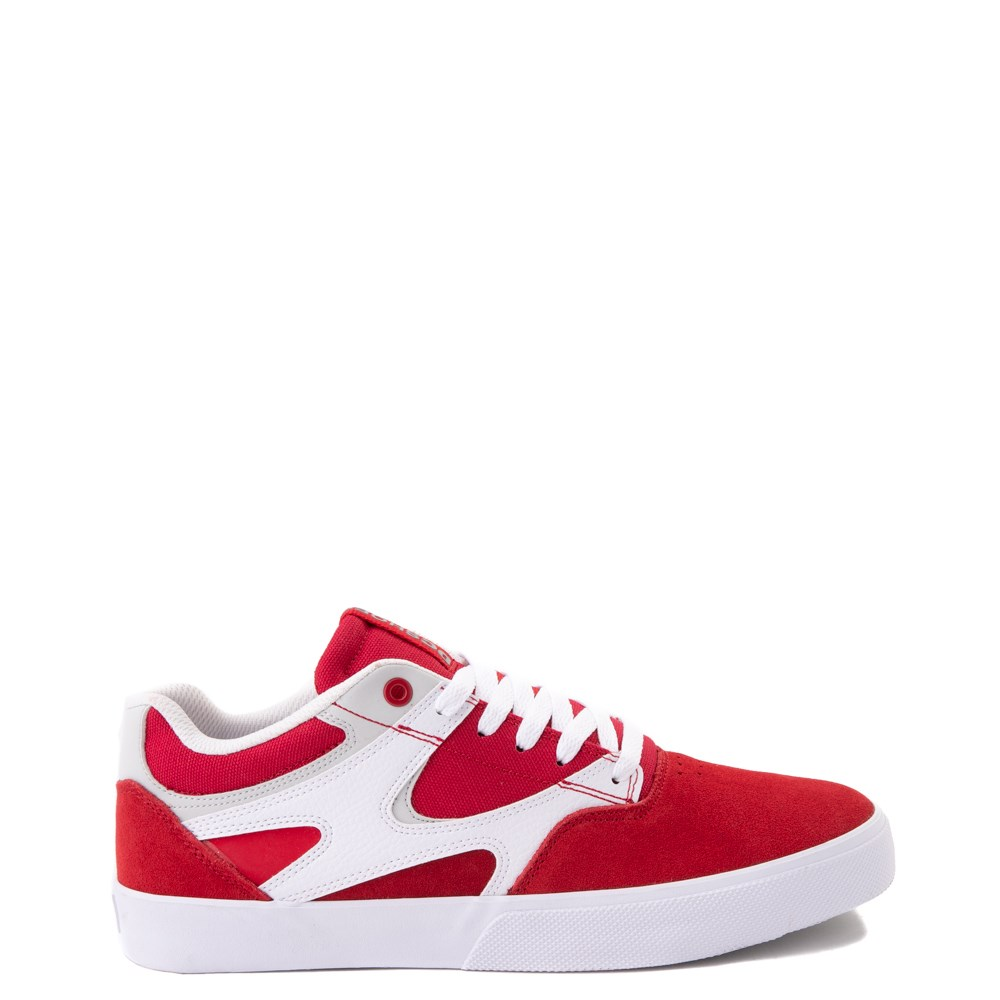 Mens DC Kalis Vulc Skate Shoe - Red / White