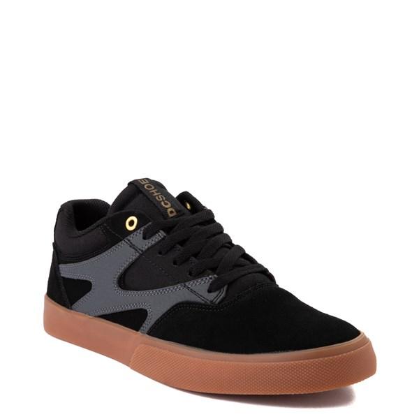 alternate view Mens DC Kalis Vulc Skate Shoe - Black / GrayALT1