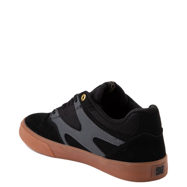 alternate view Mens DC Kalis Vulc Skate Shoe - Black / GrayALT2