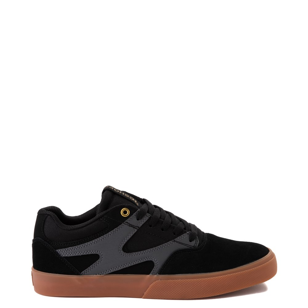 Mens DC Kalis Vulc Skate Shoe - Black / Gray