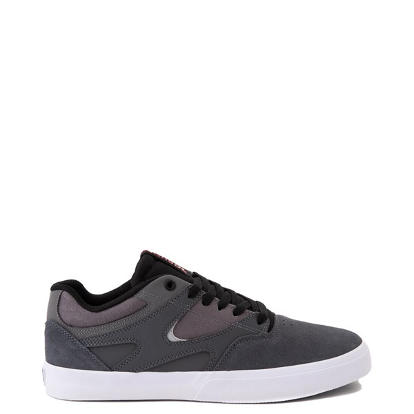 Mens DC Kalis Vulc Skate Shoe - Gray / Black