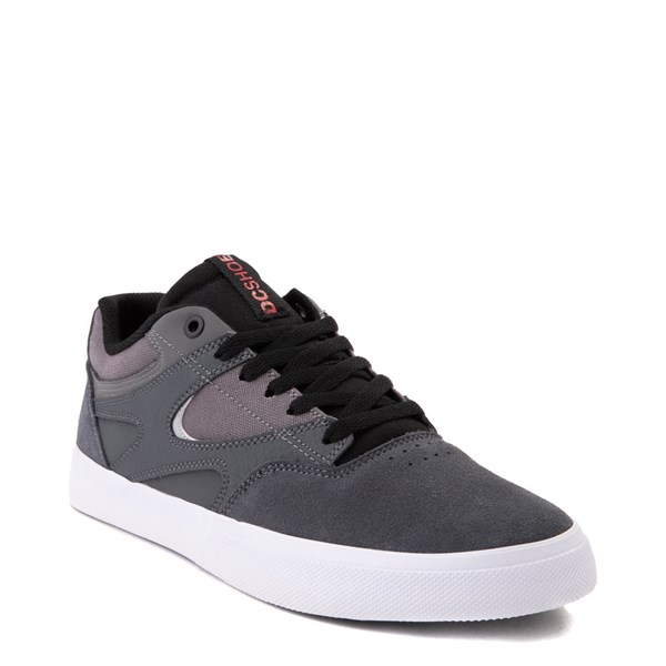 alternate view Mens DC Kalis Vulc Skate Shoe - Gray / BlackALT1