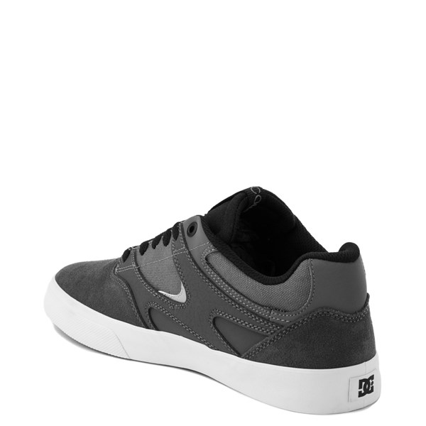 alternate view Mens DC Kalis Vulc Skate Shoe - Gray / BlackALT2