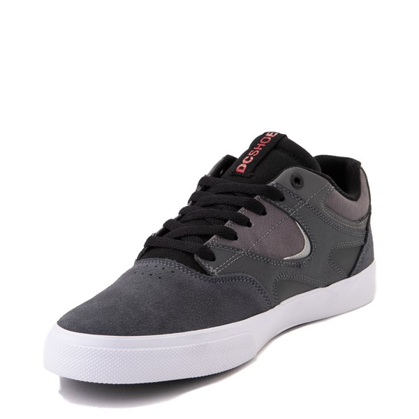 alternate view Mens DC Kalis Vulc Skate Shoe - Gray / BlackALT3