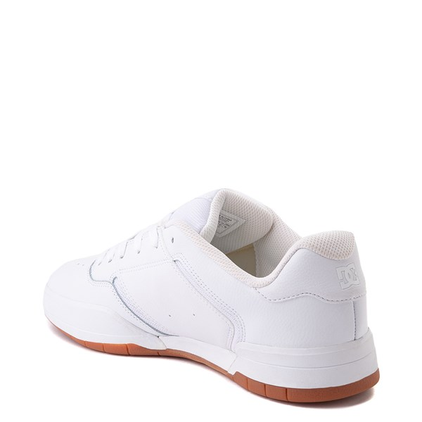 alternate view Mens DC Central Skate Shoe - White MonochromeALT2