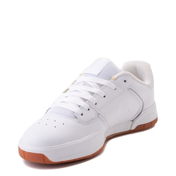 alternate view Mens DC Central Skate Shoe - White MonochromeALT3