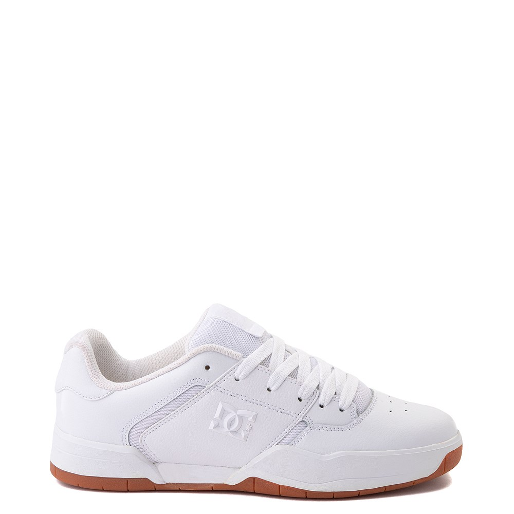 Mens DC Central Skate Shoe - White Monochrome