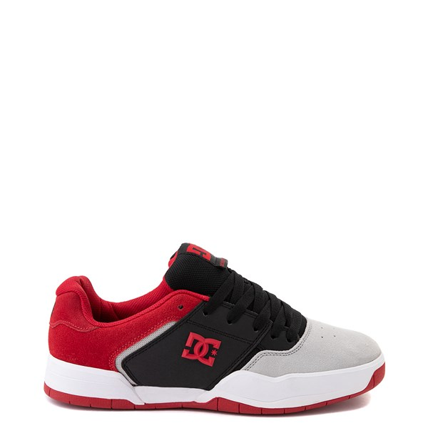 Mens DC Central Skate Shoe - Black / Red / Gray