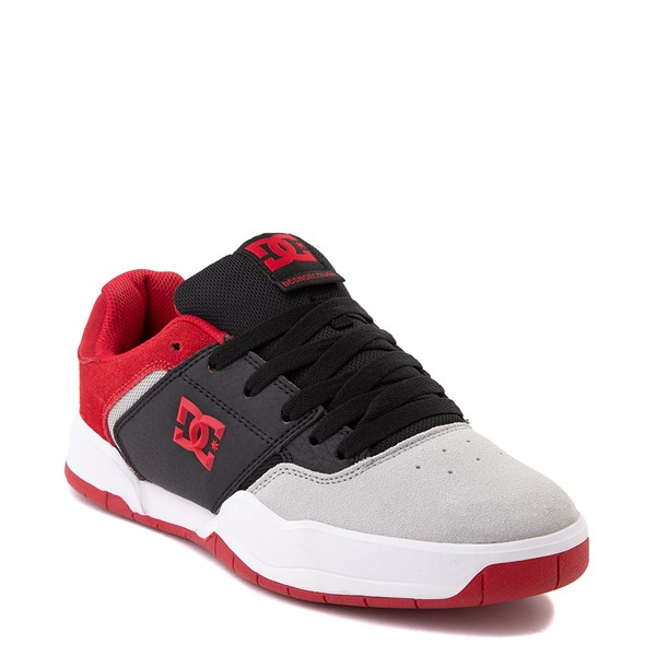 alternate view Mens DC Central Skate Shoe - Black / Red / GrayALT1