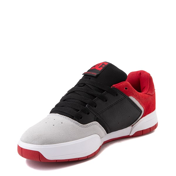 alternate view Mens DC Central Skate Shoe - Black / Red / GrayALT3
