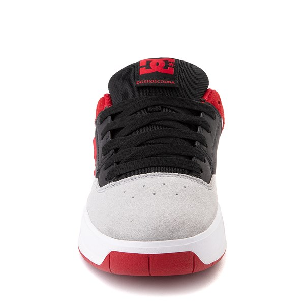 alternate view Mens DC Central Skate Shoe - Black / Red / GrayALT4